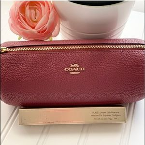 Coach Leather Brush Holder and Stila Masca…